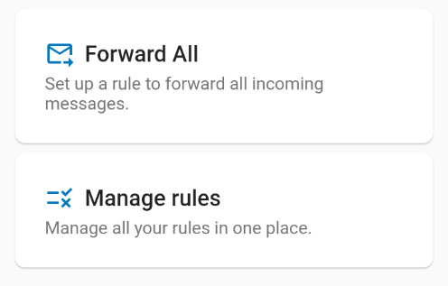 App main menu with 2 buttons