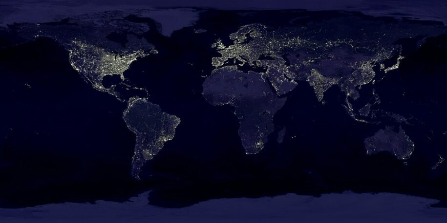 World image from outer-space