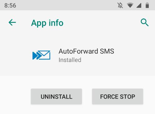 App info screen