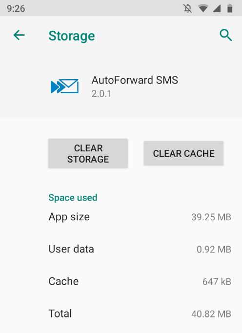Uninstall Clear Storage
