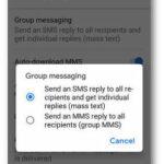 Setting to change MMS grouping settings